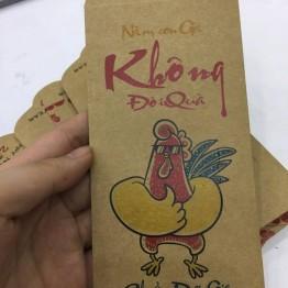 Phong bao lì xì tết giấy Kitcat in hình con gà